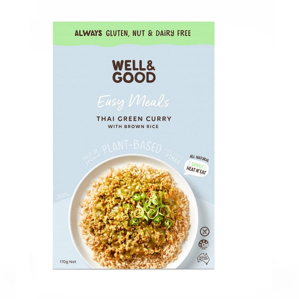 Well and Good - Meal Kit - Thai Green Curry & Rice 170g