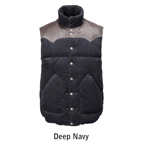 2002 W's Original Cord Vest color Deep Navy