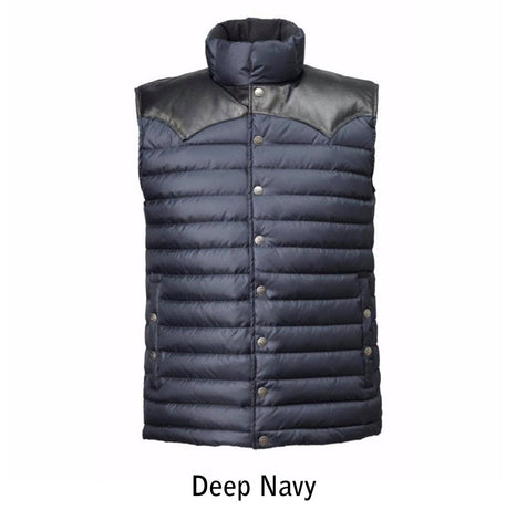 1005 M's Enclosure Down Vest color Deep Navy