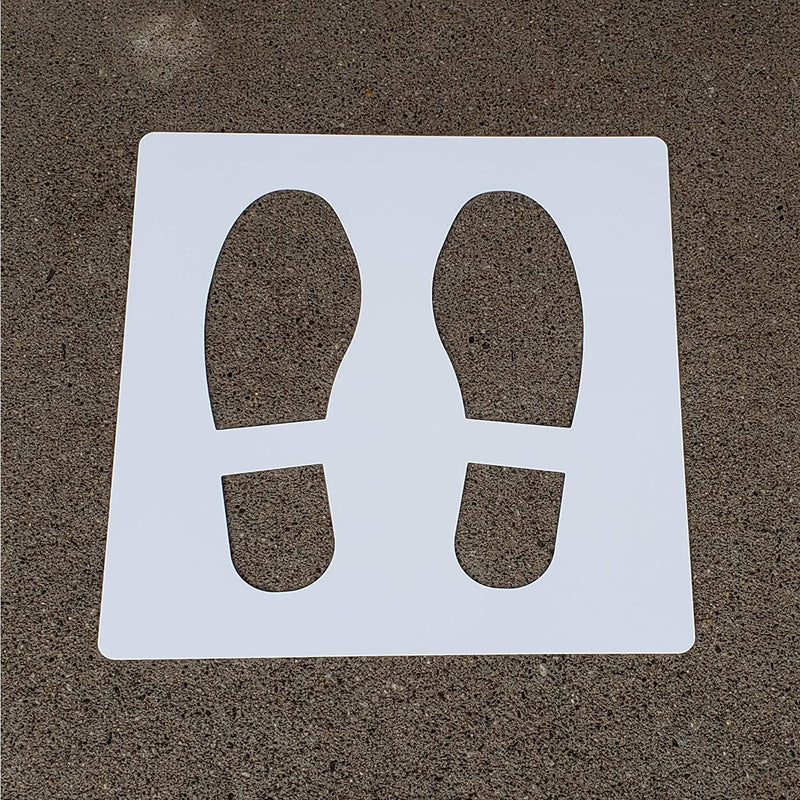 Social Distancing Safety Floor Stencils - Chieftain Marketing Inc.