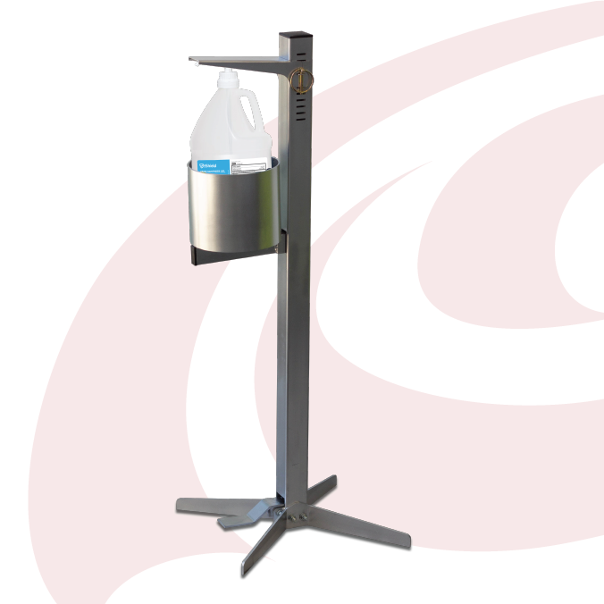 Shield Pedal Activated Hand Sanitizer Dispenser - Industrial - Chieftain Marketing Inc.