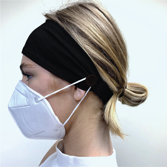 Headband with Buttons for Face Mask - Chieftain Marketing Inc.