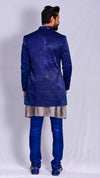 Indigo dyed Jodhpuri Jacket with Straight Pants