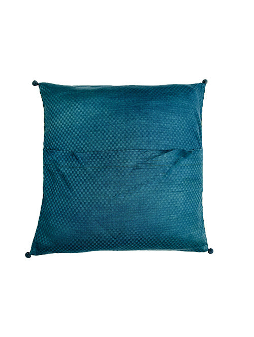 Indigo Nashpal Dabu printed Cushion Cover (Set of 2) - Aavaran Udaipur