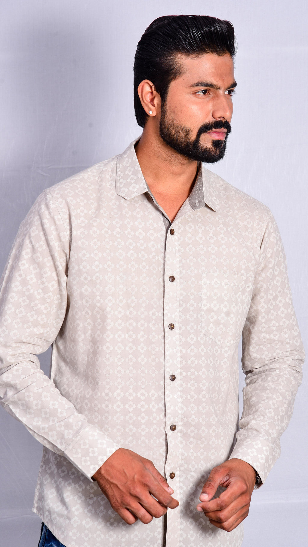 Kashish Dyed Full Sleeves Shirt - Aavaran Udaipur