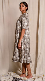 Kashish dyed and dabu hand block printed dress - Aavaran Udaipur