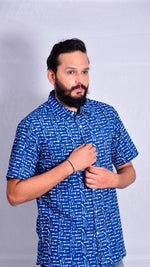 Indigo Half Sleeves Shirt