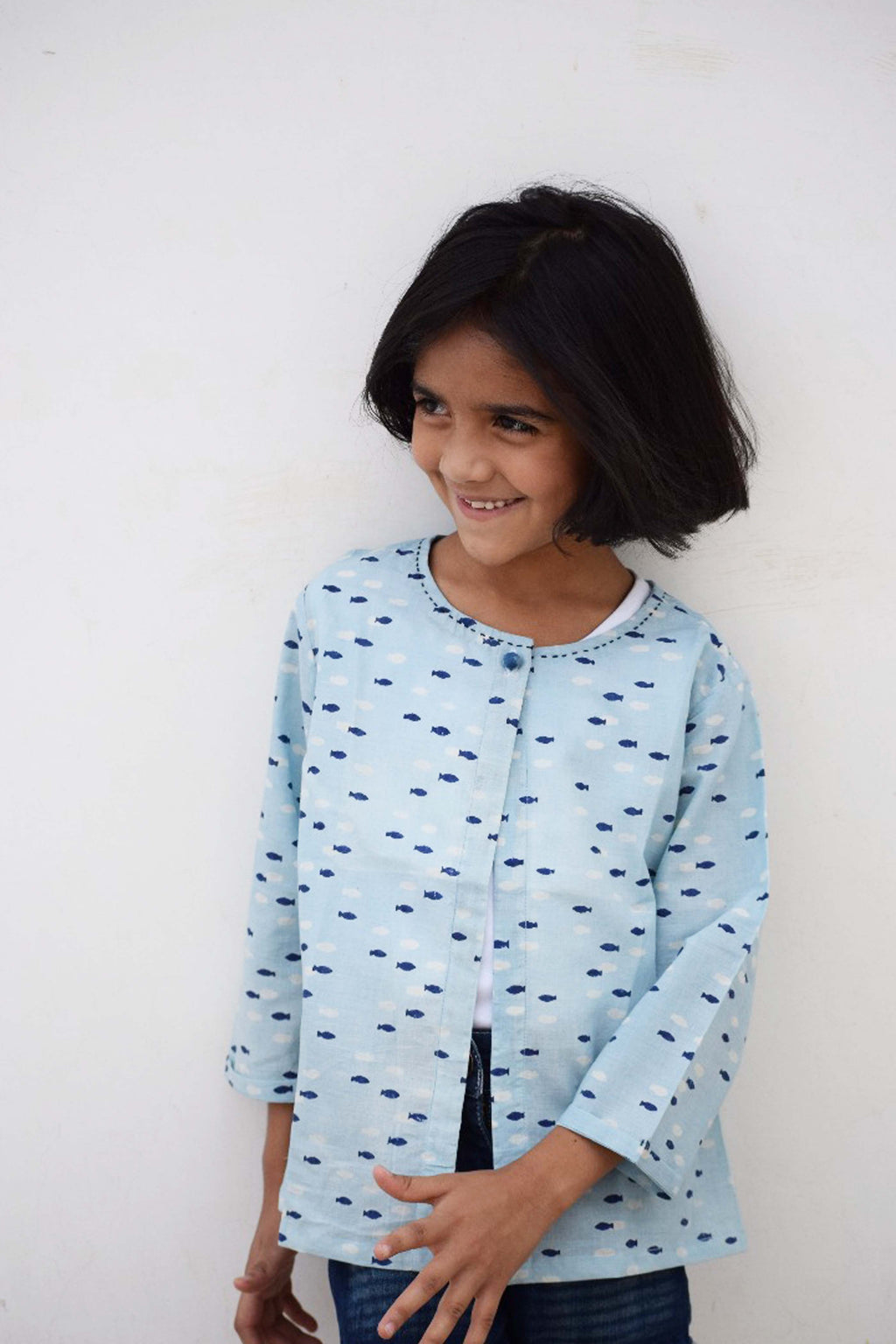 Light Indigo dyed top - Aavaran Udaipur