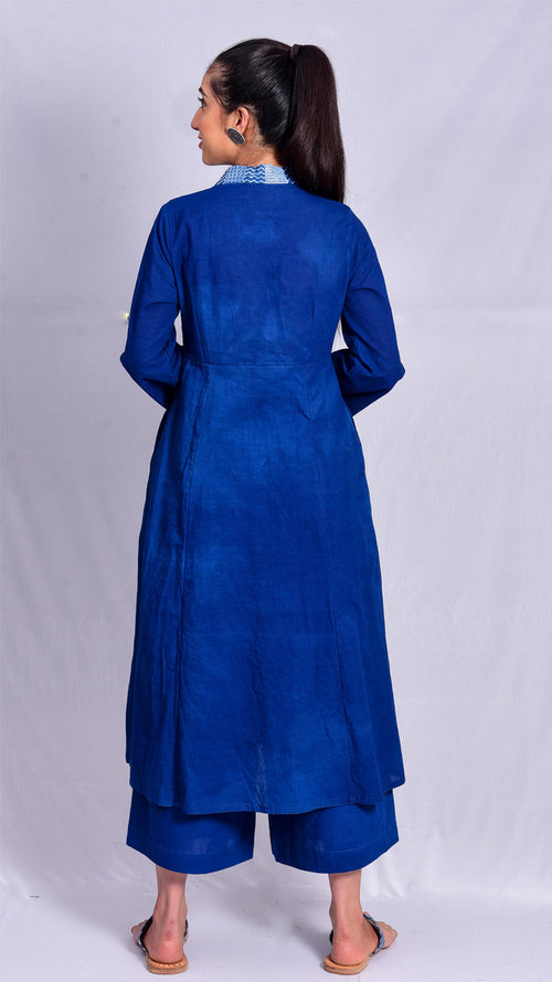 Indigo dyed cotton kurta