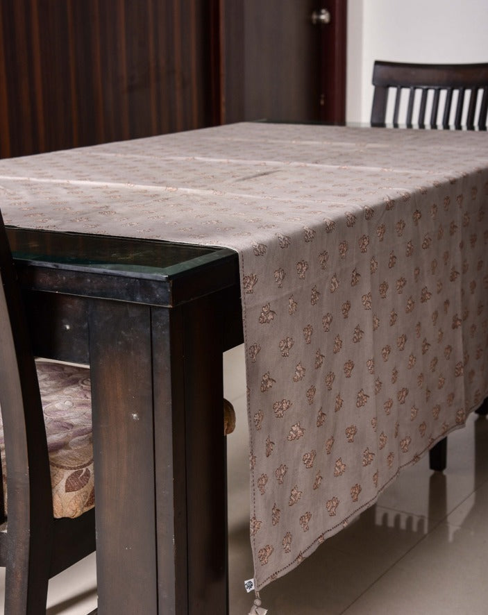 Kashish dyed and dabu hand block printed table cover - Aavaran Udaipur