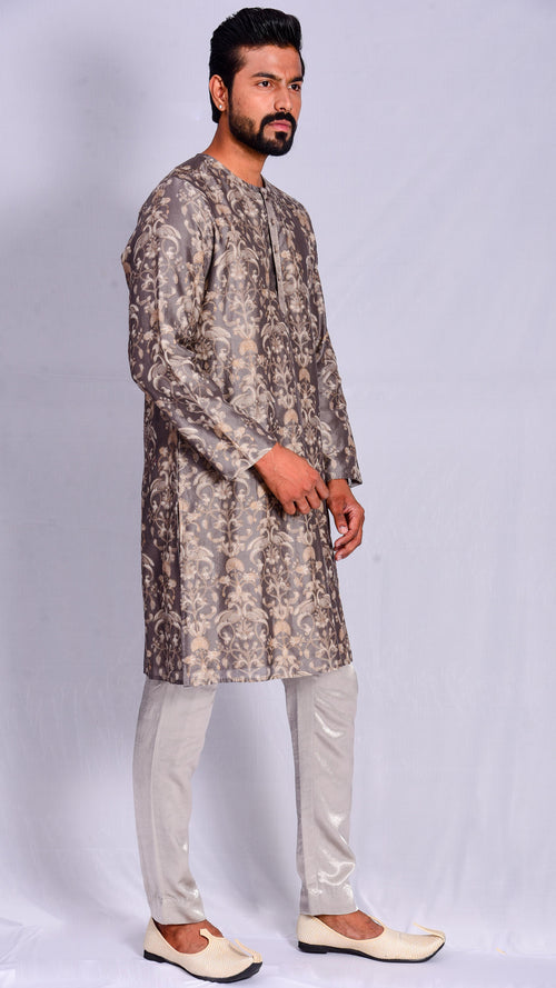 Kashish Dyed dabu print Straight kurta