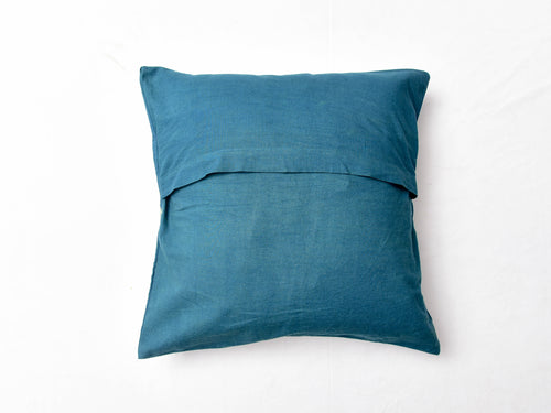 Indigo Nashpal Dyed and Dabu Printed cushion cover ( set of 2 ) - Aavaran Udaipur
