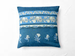 Indigo Nashpal Dyed and Dabu Printed cushion cover (set of 2) - Aavaran Udaipur