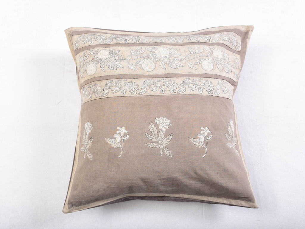 Kashish Dyed and Dabu Printed cushion cover (set of 2) - Aavaran Udaipur