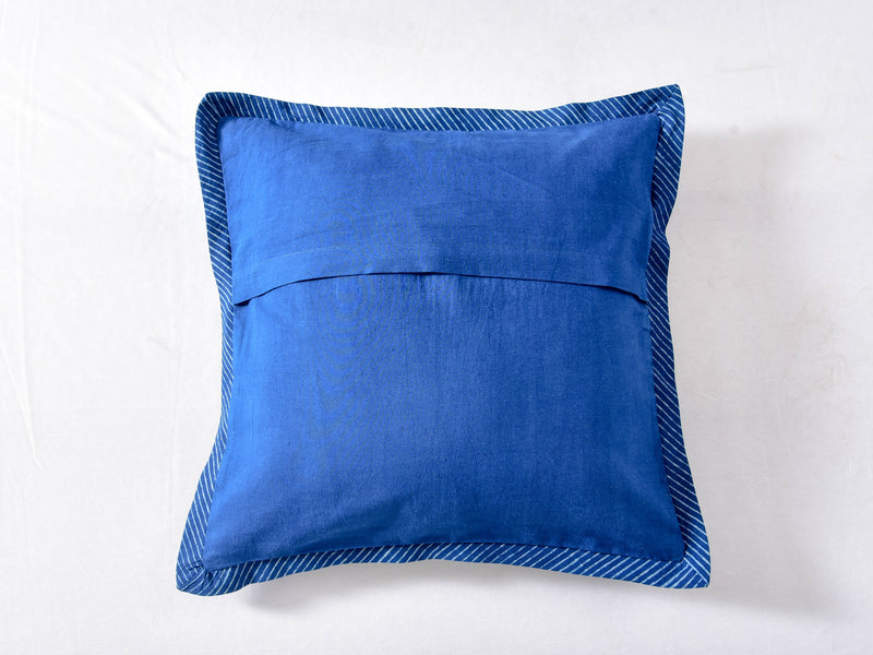Indigo Dyed and Dabu Printed cushion cover ( set of 2 ) - Aavaran Udaipur