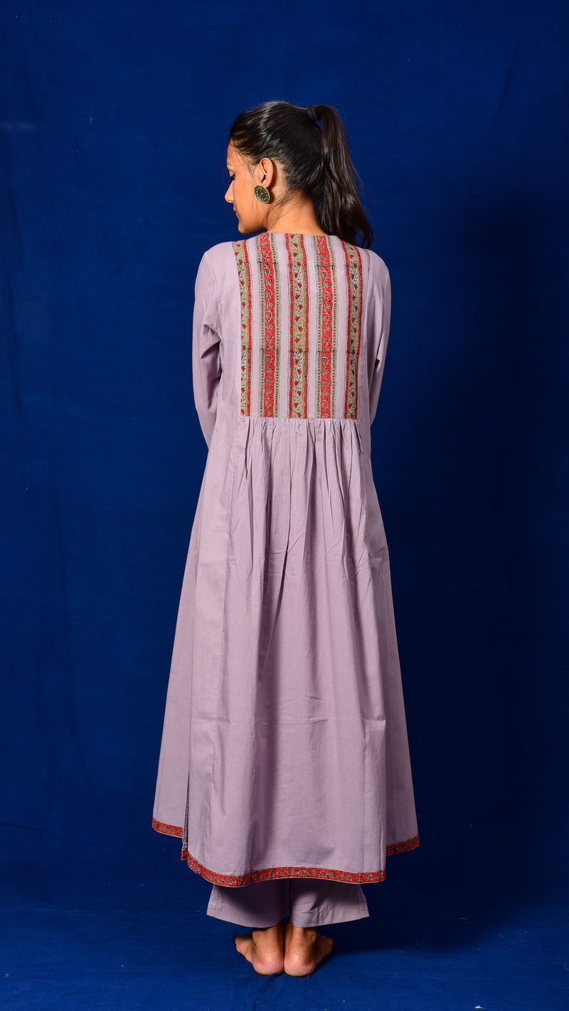 Manjistha + Kashish Dyed Flared Kurta Dress - Aavaran Udaipur