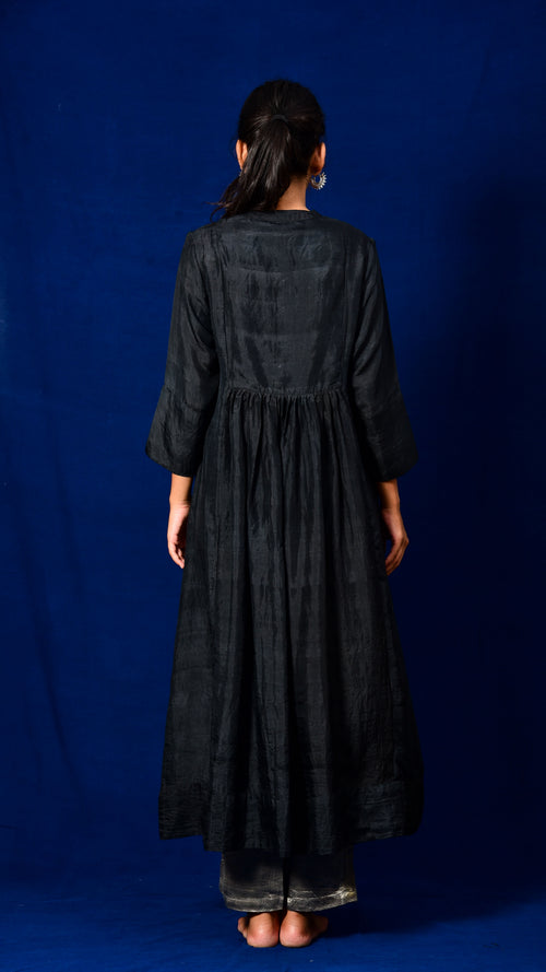 Danka Embroidered Flared Kurta Dress - Aavaran Udaipur
