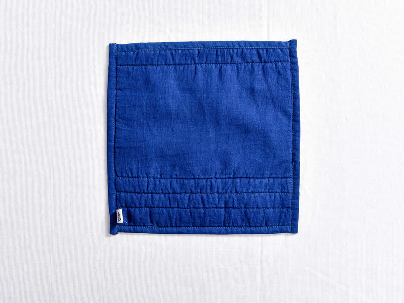 Indigo dyed and dabu hand block printed pot holder - Aavaran Udaipur