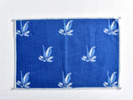 Indigo dyed and dabu hand block printed table mat(set of 2) - Aavaran Udaipur