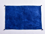Indigo dyed and khadi hand block printed table mat (Set of 2) - Aavaran Udaipur