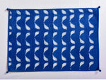 Indigo dyed and dabu hand block printed table mat - Aavaran Udaipur