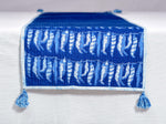 Indigo Dyed , quilted and dabu hand block printed table runner - Aavaran Udaipur