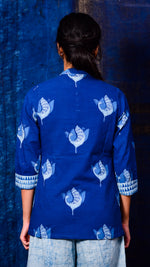Indigo dyed top with inner - Aavaran Udaipur