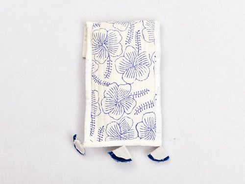 Hand block printed phone cover with strings - Aavaran Udaipur