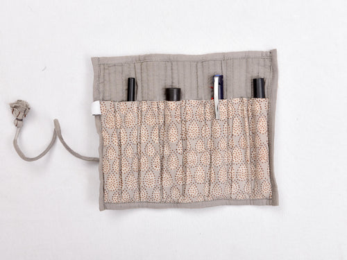 Kashish dyed and dabu hand block printed pen holder roller - Aavaran Udaipur