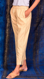 Peach Straight pants - Aavaran Udaipur
