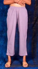 Light purple solid narrow pants - Aavaran Udaipur