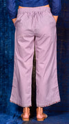 Light purple solid Flared Pant - Aavaran Udaipur