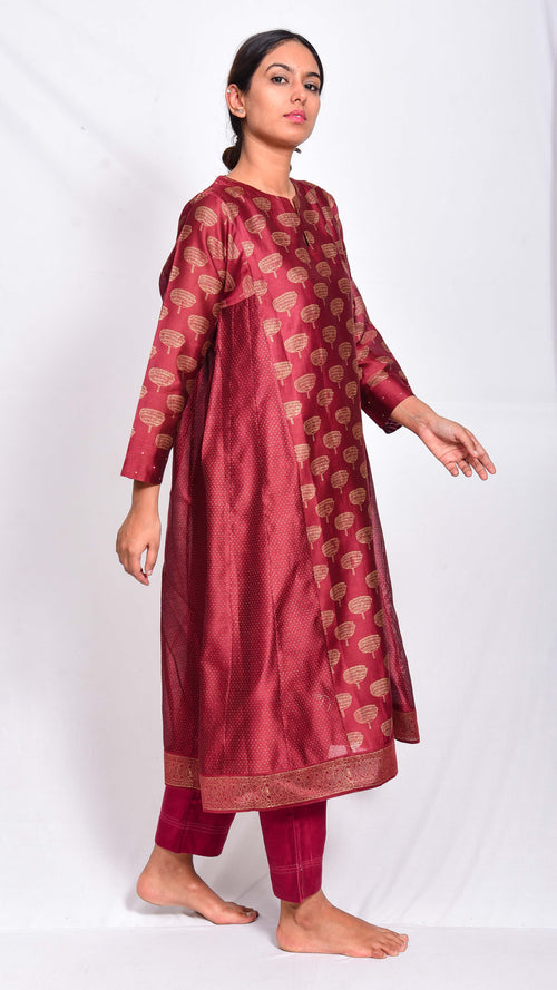 "A-Line kurta with our signature ""kadam"" Print - Aavaran Udaipur"