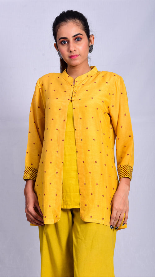 Haldi Dyed Two Piece Top - Aavaran Udaipur