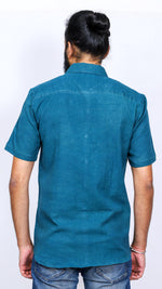 Indigo and nashpal dyed men's shirt - Aavaran Udaipur