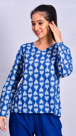 Indigo Dyed Short top - Aavaran Udaipur