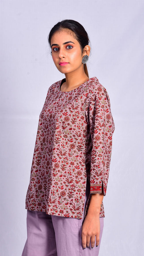 Manjistha Kashish Dyed Short Top - Aavaran Udaipur