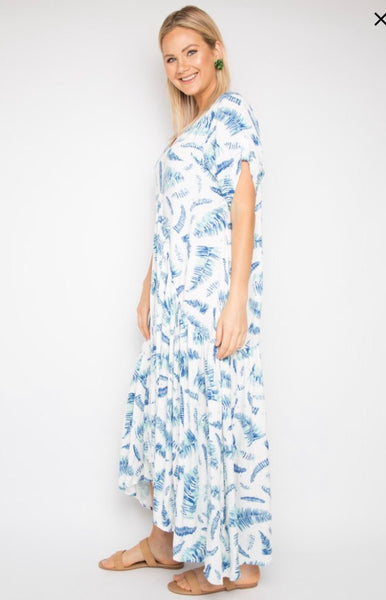 Peak Maxi Dress in Palm Leaves print