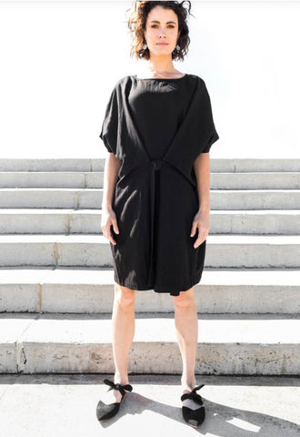 Paqoda Black Tie Block Dress