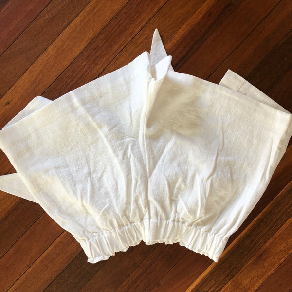 AVENT WRAPPED WHITE LINEN SHORT