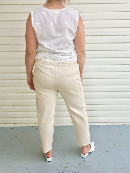 DUNE BEIGE COTTON PANTS