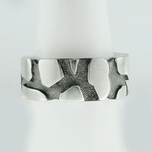 Cracked Earth Ring Band, Cracked Earth, Lava, Rock Formation, Earth Crust