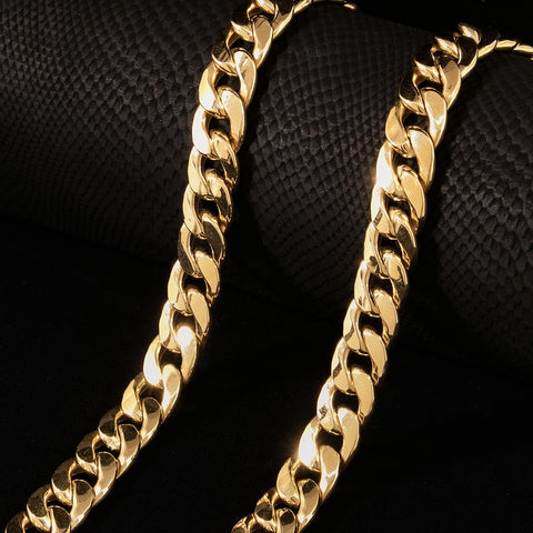 Image of 18 KT Yellow Gold Miami Cuban Chain