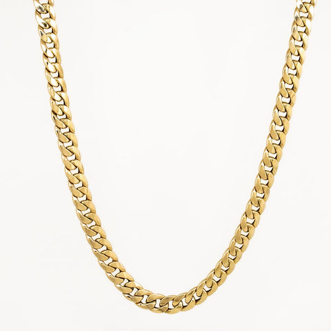 18 KT Yellow Gold Miami Cuban Chain