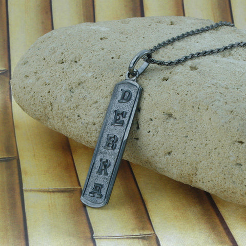 Image of Men Necklace,  Monogram Necklace,  Arabic Pendant,  Initial Necklace, Personalized in English & Arabic, Slim