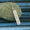Egyptian Necklace, Egyptian Cartouche,  Initial Necklace, Personalized in English & Hieroglyphs, Slim