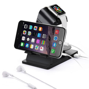 Dual Stand Charging Station Desk Dock for Apple Watch and iPhone 8 onwards - RV Online UK