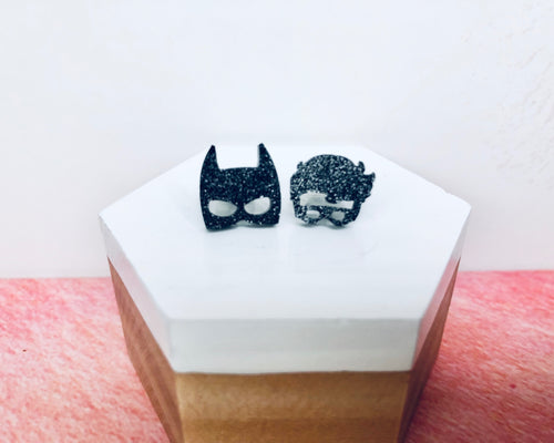 'Batman & Robin' Mini Stud Earrings