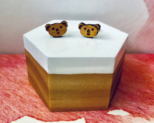 'Adorable Koalas' Mini Stud Earrings