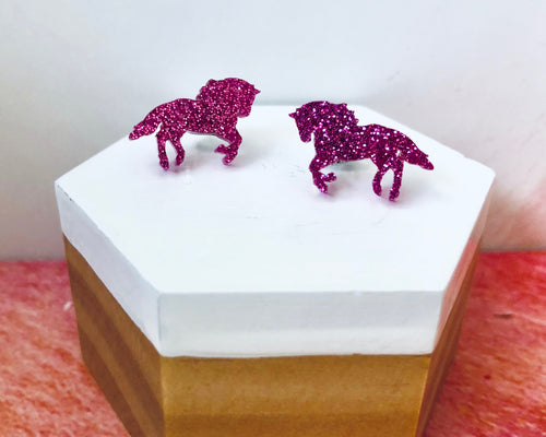 'Majestic Horses' Mini Stud Earrings